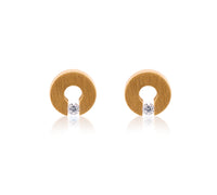 ER100G B.Tiff Malfinia Gold Plated Stainless Steel Earrings