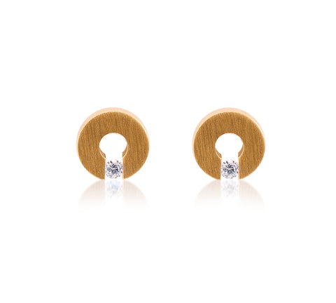 ER100G B.Tiff Supera Gold Plated Stainless Steel Earrings