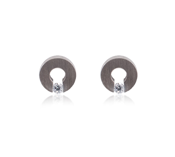 ER100W B.Tiff Malfinia Stainless Steel Earrings