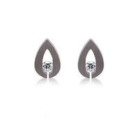 ER106G B.Tiff Drop Gold Plated Stainless Steel Earrings