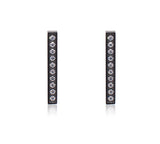 ER107B B.Tiff 9-Stone Short Bar Black Anodized Stainless Steel Earrings