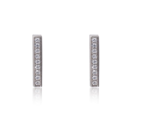 ER107W B.Tiff Bar Stainless Steel Earrings