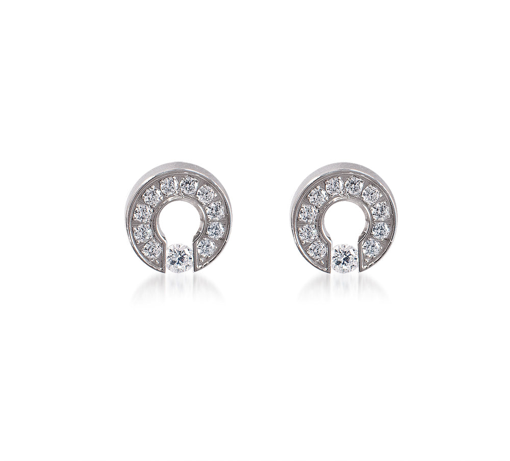 ER118W B.Tiff Barrel Stainless Steel Earrings