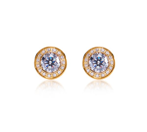 ER125G B.Tiff 1 ct Aŭreolo Gold Plated Stainless Steel Earrings