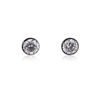 ER201G B.Tiff 2 ct Solitaire Gold Plated Stainless Steel Stud Earrings