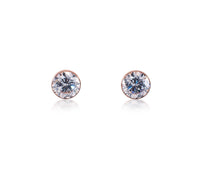 ER101W B.Tiff 1 ct Stainless Steel Solitaire Stud Earrings