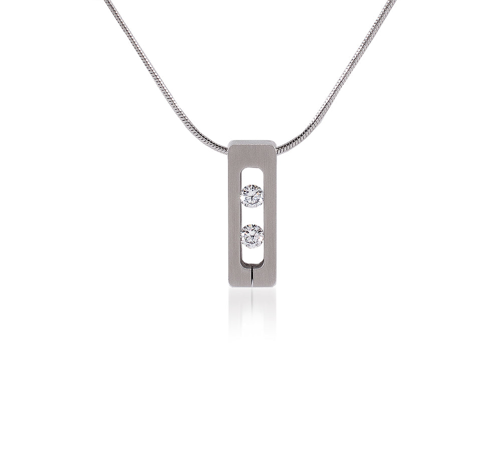 PT088W B.Tiff Stainless Steel Simetrio Pendant Necklace