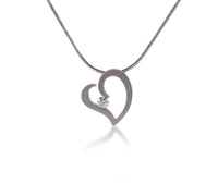 PT091W B.Tiff Stainless Steel Heart Pendant Necklace