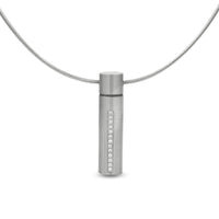 PT1004W B.Tiff Personalized Oil Diffuser Stainless Steel Pendant Necklace