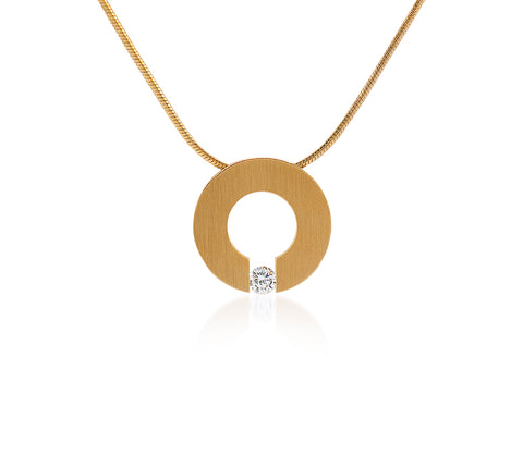 PT100G B.Tiff Malfinia Gold Plated Stainless Steel Pendant