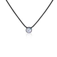 PT101W B.Tiff 1 ct Stainless Steel Solitaire Pendant Necklace