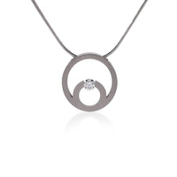 PT105W B.Tiff Stainless Steel Komenco Pendant Necklace