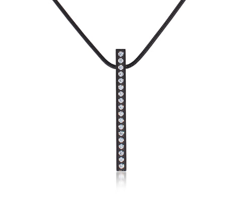 PT107B B.Tiff Black Steel Bar Pendant