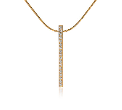 PT107G B.Tiff Gold Plated Bar Pendant