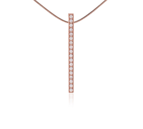 PT107RG B.Tiff Rose Gold Plated Bar Pendant
