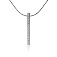 PT107G  B.Tiff 18-Stone Gold Plated Stainless Steel Bar Pendant Necklace