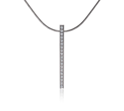 PT107W B.Tiff Bar Stainless Steel Pendant