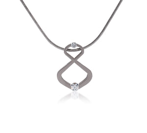 PT108W B.Tiff Infinite Stainless Steel Pendant Necklace
