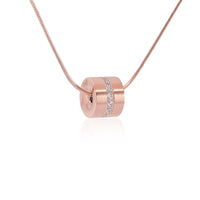 PT118G B.Tiff Barrel Gold Plated Stainless Steel Pendant Necklace