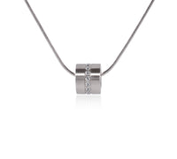 PT118W B.Tiff Barrel Stainless Steel Pendant Necklace