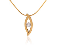 PT128G B.Tiff Deziras Gold Plated Stainless Steel Pendant Necklace