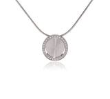 PT207G B.Tiff Pave 30-Stone Halo Gold Plated Stainless Steel Pendant Necklace