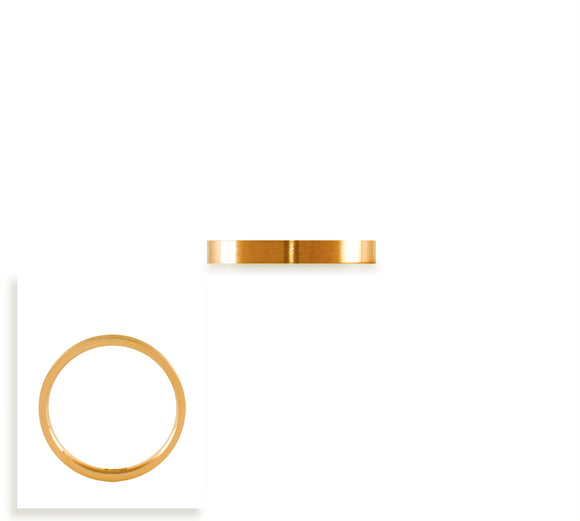 RG101G B.Tiff Gold Plated Stainless Steel Plain Stacking Ring