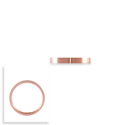 RG101RG B.Tiff Rose Gold Plated Stainless Steel Plain Band