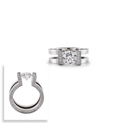 RG108W B.Tiff 2 ct Round Solitaire Interlocking Engagement Ring
