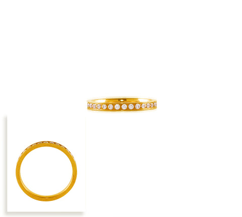RG111G B.Tiff Gold Plated Stainless Steel Eternity Ring