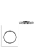 RG111W B.Tiff Stacking .01 ct Stainless Steel Eternity Ring