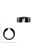 RG113B B.Tiff 1 ct Malfinia Black Anodized Stainless Steel Trillion Cut Solitaire Ring