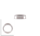 RG118W B.Tiff Offset Stainless Steel Eternity Ring