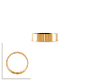 RG600RG B.Tiff Simplicity 6 Rose Gold Plated Stainless Steel Stacking Plain Ring
