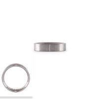 RG600B B.Tiff Simplicity 6 Black Anodized Stainless Steel Stacking Plain Ring