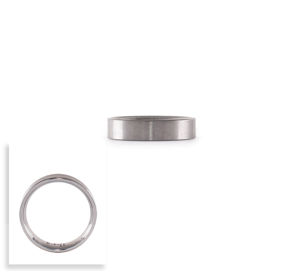 RG600W B.Tiff Simplicity 6 Stainless Steel Stacking Plain Ring