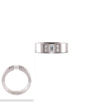 "RG608W B.Tiff ""Amikoj"" 1/3 ct Emerald Cut Stainless Steel Ring"