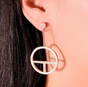 ER107TRG B.Tiff Logo T Bar Rose Gold Plated Stainless Steel Earrings
