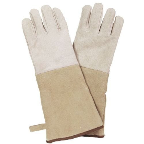 Brown Suede Gloves - 16""