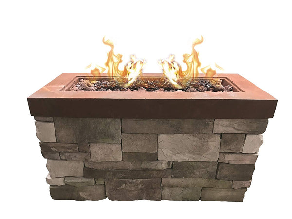 Bay Pointe Outdoors Urban Series Linear Stone Fire Pit