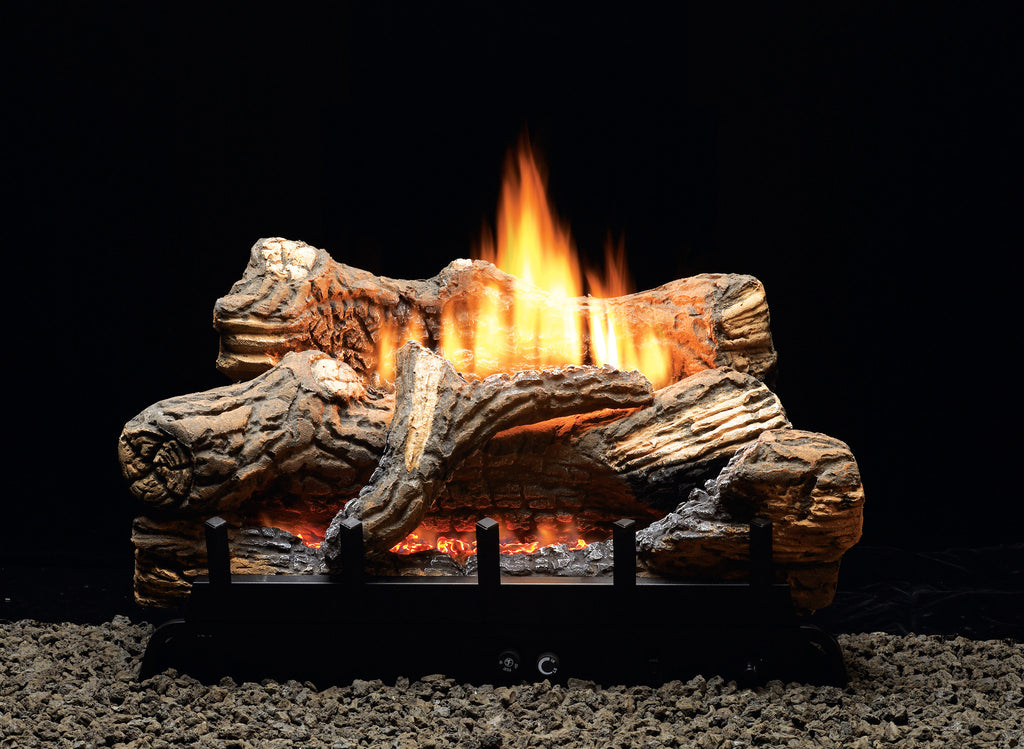 The Vent Free Refractory Ceramic Gas Log Set will transform the look of your vent free fireplace. This refractory log set will glow marvelously in any fireplace