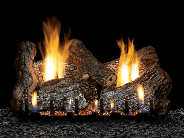 Empire Sassafras Refractory Log Set with Burner