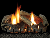 Empire Stacked Aged Oak Refractory Log Set with Burner