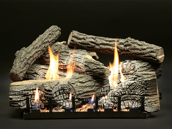 Empire Super Stacked Wildwood Refractory Log Set with Burner