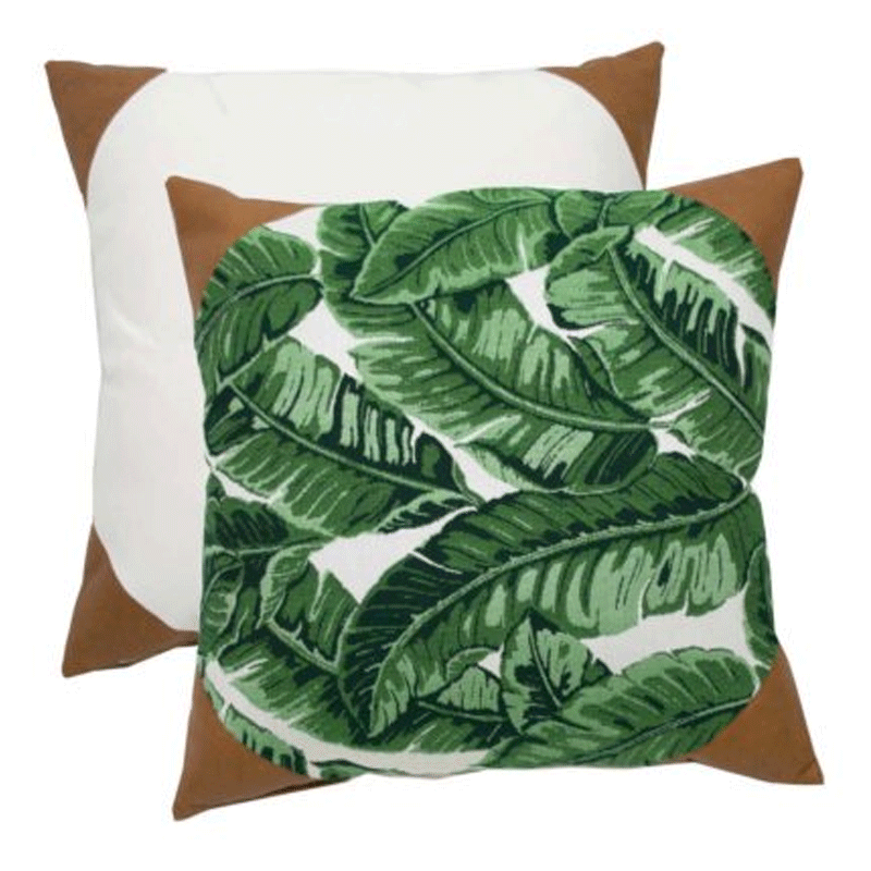 Wendy Jane Tropics Pillow - Emerald