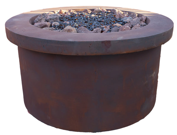 BayPointe Outdoors Urban Series Rust Red Fire Pit