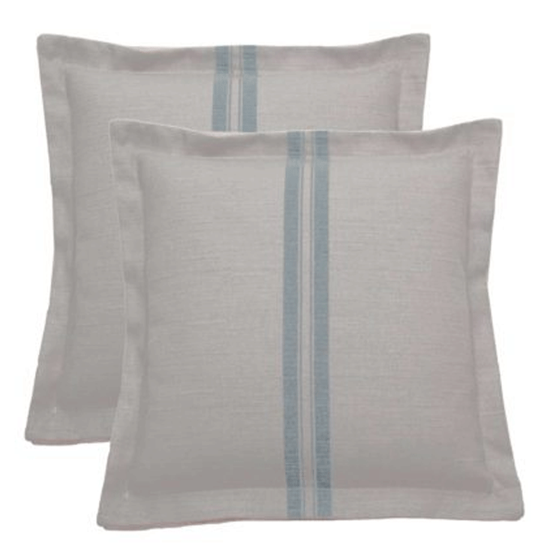 Wendy Jane Vintage Stripes Pillow - Mist