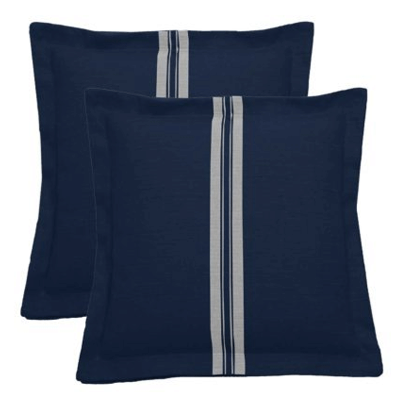 Wendy Jane Vintage Stripes Pillow - Navy