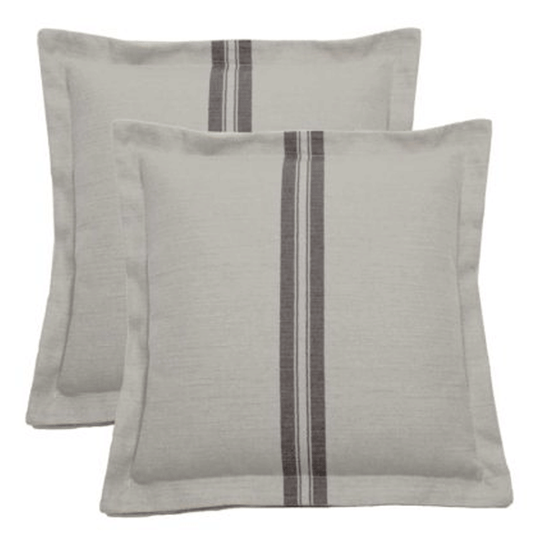 Wendy Jane Vintage Stripes Pillow - Pewter