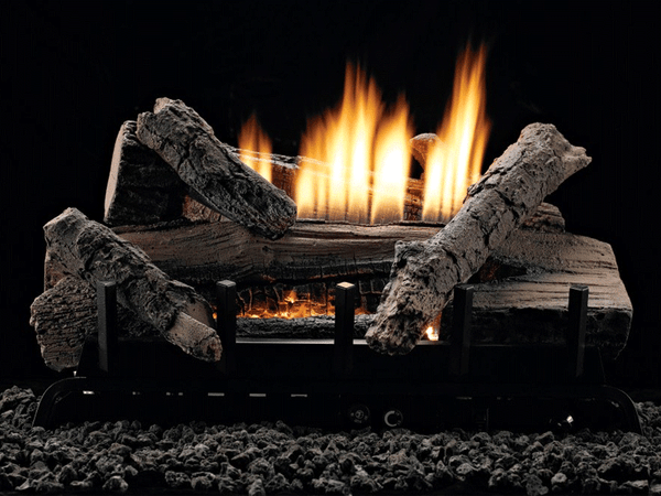 Empire Whiskey River Refractory Log Set with Burner